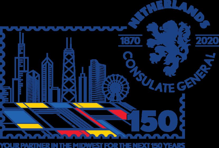 CG Chicago 150 jaar logo